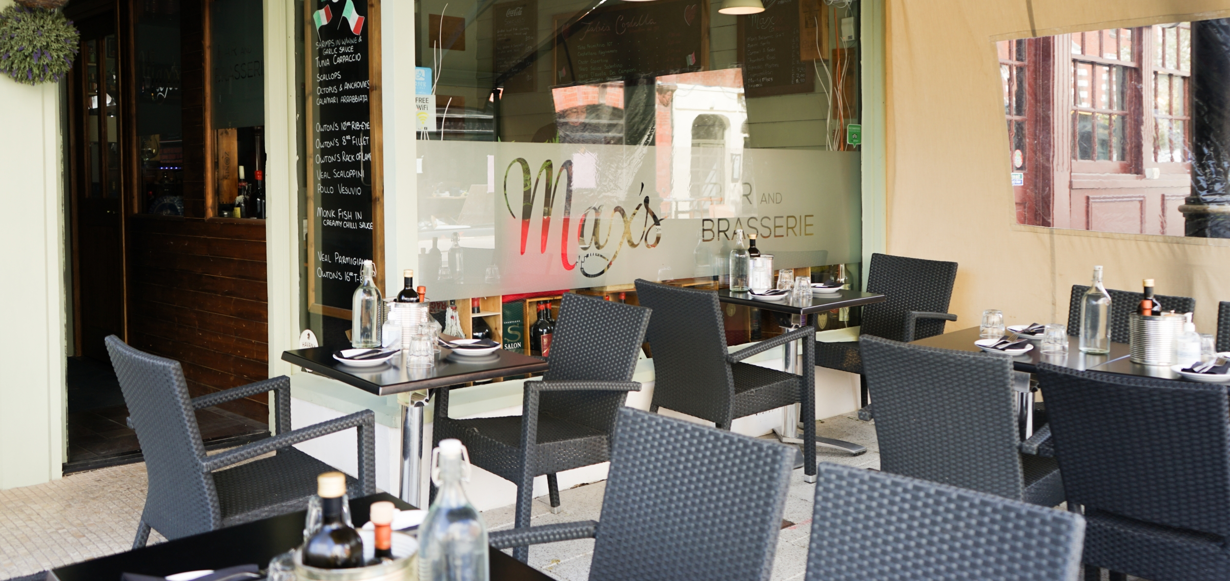 maxs bar and brasserie outdoor space covid19